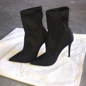 Top shop scuba black stiletto boot 36 (6) perfect